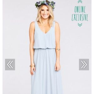 Show Me Your Mumu Kendal Dress - Steel Blue